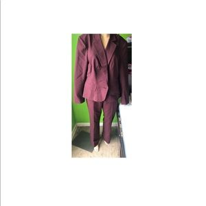 New York & Company Burgundy Suit